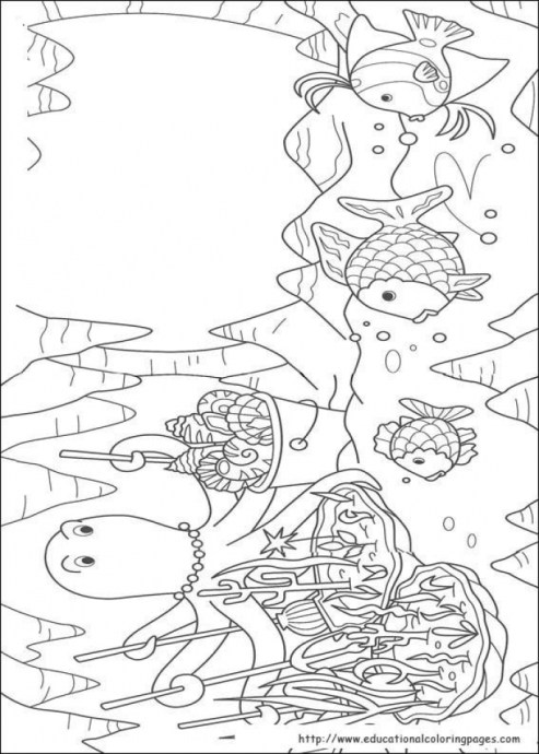 Rainbow Fish Coloring Pages 65534