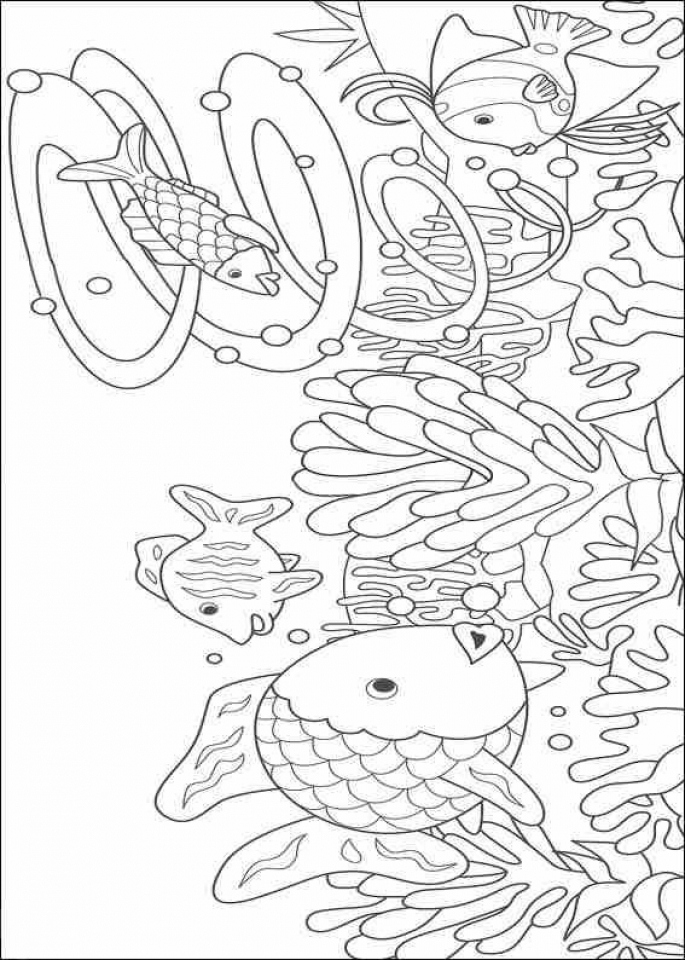 Rainbow Fish Coloring Pages Free   NF621