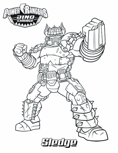 Power Ranger Dino Force Coloring Pages for Kids - 35179
