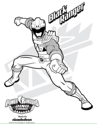 Power Ranger Dino Force Coloring Pages for Kids - 91218