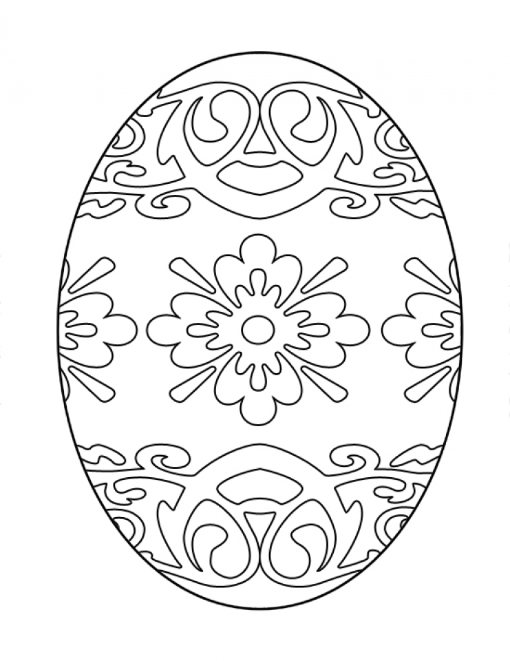 Advanced Coloring Pages of Easter Egg for Grown Ups   00964