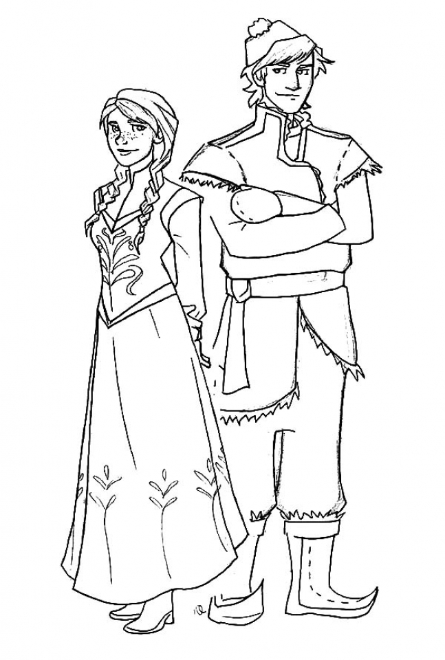 Disney Frozen Princess Anna Coloring Pages Free to Print   13133