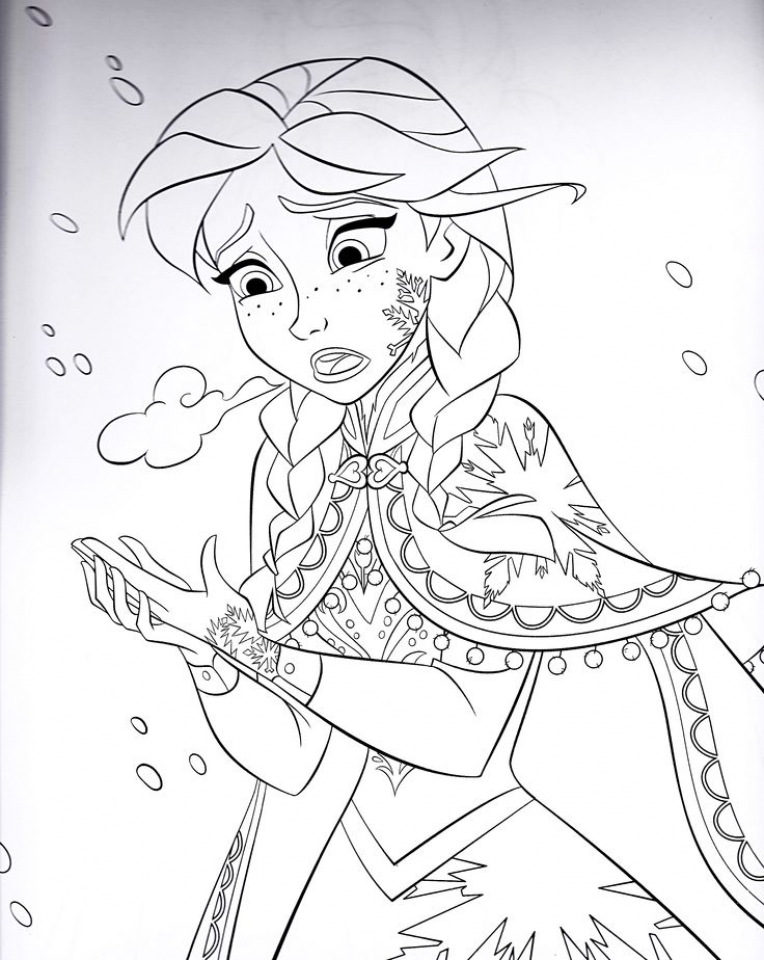 Get This Disney Frozen Princess Anna Coloring Pages Free ...