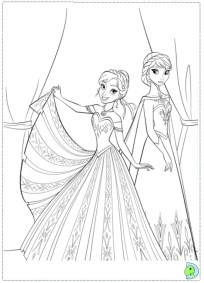Disney Frozen Princess Anna Coloring Pages Free to Print 83822