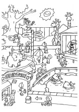 Easy Preschool Printable of Zoo Coloring Pages 13948
