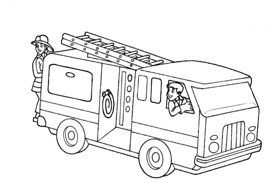 Fire Truck Coloring Page for Toddlers   74185