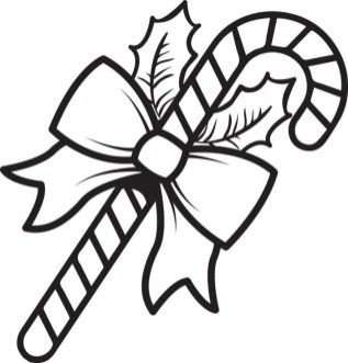 Free Candy Cane Coloring Page for Kids 81412