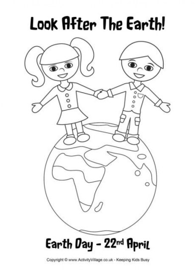 Free Earth Day Coloring Pages for Kids 66476