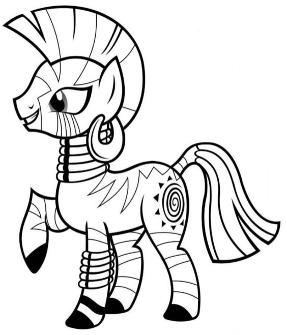 Free Preschool My Little Pony Friendship Is Magic Coloring Pages to Print 94516