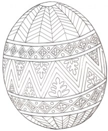 Free Printable Easter Egg Coloring Pages for Adults 74612