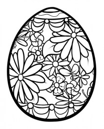 Free Printable Easter Egg Coloring Pages for Adults 97841