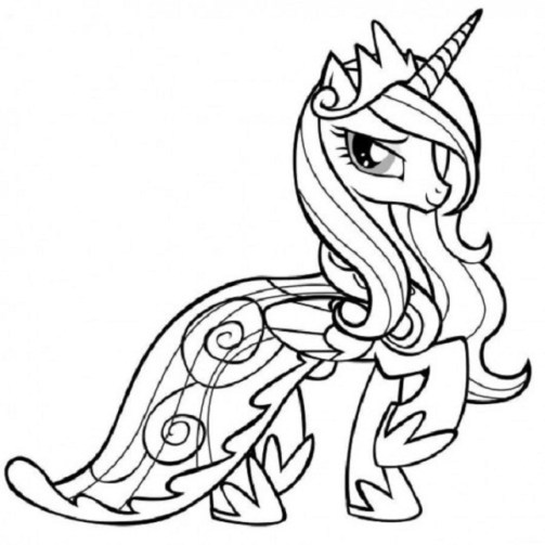 Free Printable My Little Pony Friendship Is Magic Coloring Pages for Kids 29648