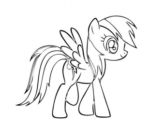 Free Rainbow Dash Coloring Pages for Toddlers 54500