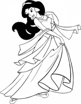 Free Simple Jasmine Coloring Pages for Children 33916