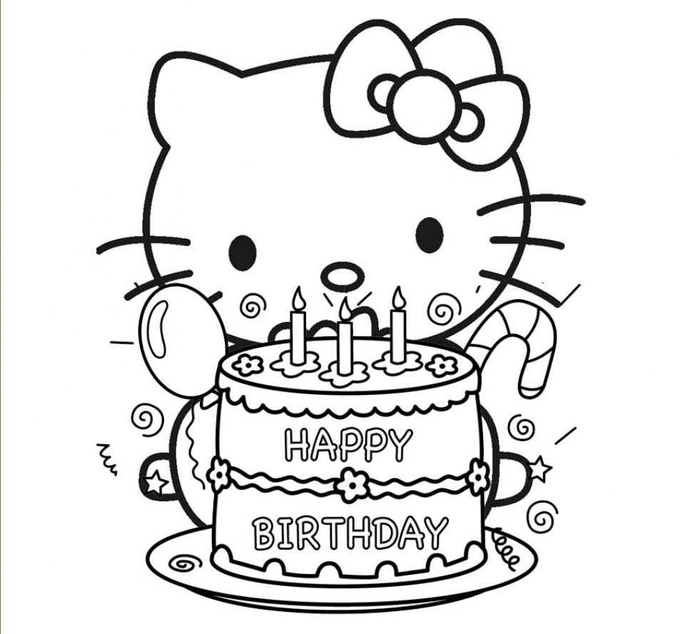 Free Simple Kitty Coloring Pages for Children   33913
