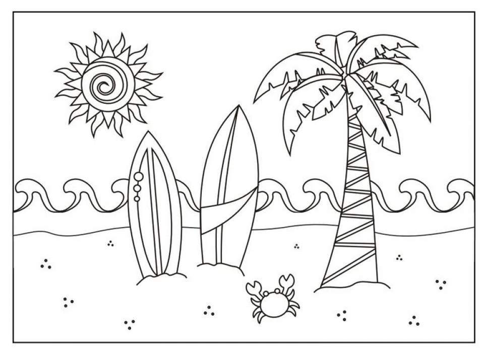 Get This Free Summer Coloring Pages Online Printable 81833 !