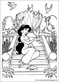 Jasmine Coloring Pages Free for Kids 32887