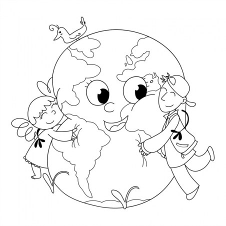 Kids Printable Earth Day Coloring Pages Free 48106