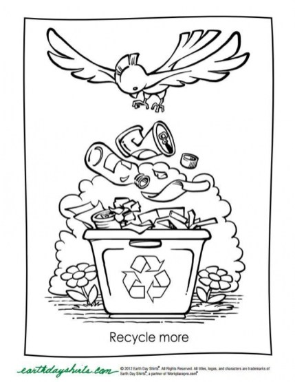 Kids Printable Earth Day Coloring Pages Free 58091