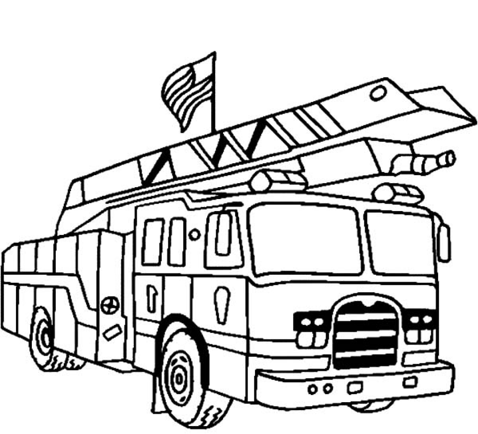 Get This Kids' Printable Fire Truck Coloring Page Free ...
