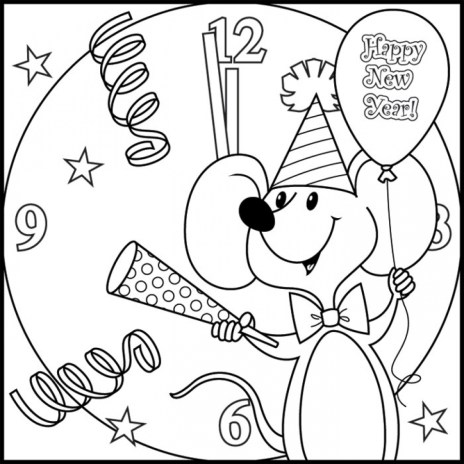 New Years Coloring Pages Free for Kids 32892