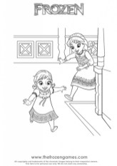 Online Disney Coloring Pages of Frozen Princess Anna 61356