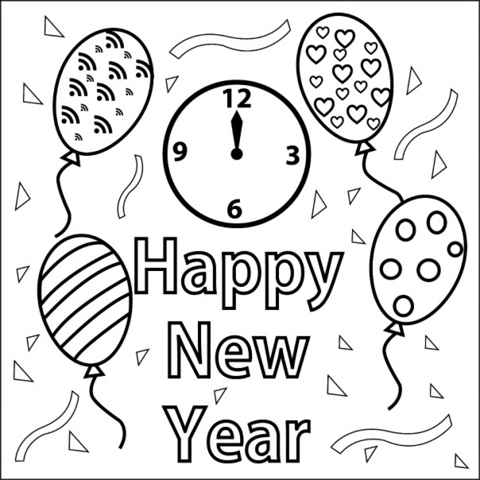 Online New Years Coloring Pages for Kids   51258
