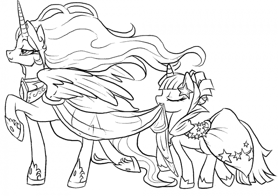 Online Printable My Little Pony Friendship Is Magic Coloring Pages   49291