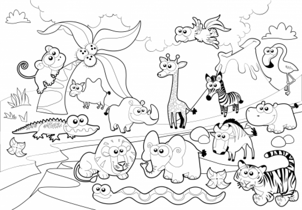 Get This Online Zoo Coloring Pages for Kids 51254 | free printable colouring pages zoo animals