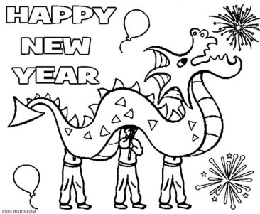 Picture of New Years Coloring Pages Free for Children 32944