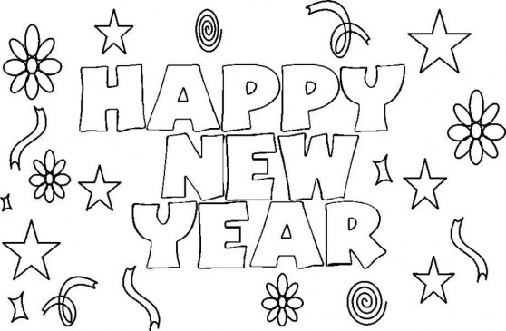 Printable New Years Coloring Pages for Kids 5180