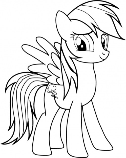 Rainbow Dash Coloring Pages Free for Kids 32890