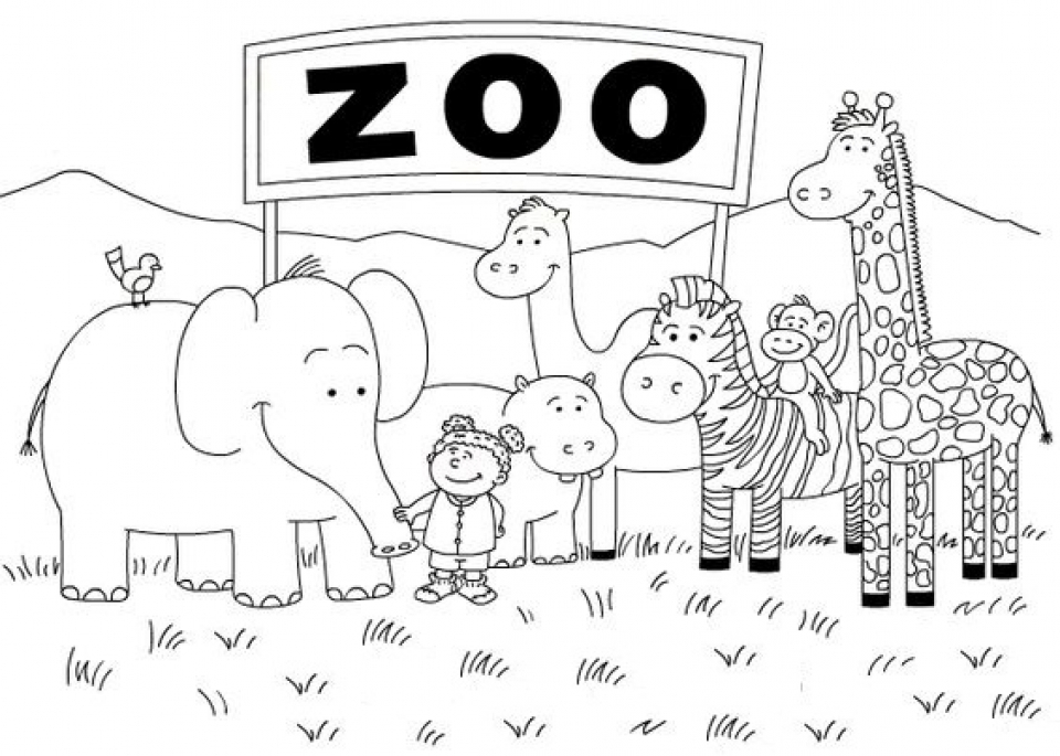 Get This Zoo Coloring Pages Free to Print 56347 | printable coloring pages zoo animals