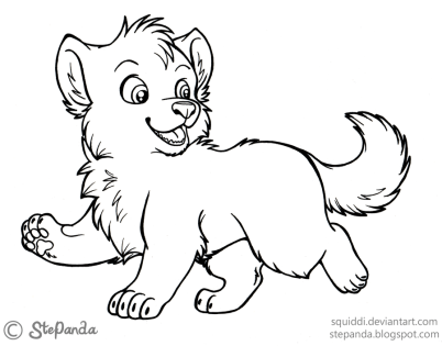 Cute Baby Wolf Coloring Pages - 47751