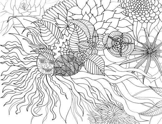 Free Adults Printable of Summer Coloring Pages - 32871