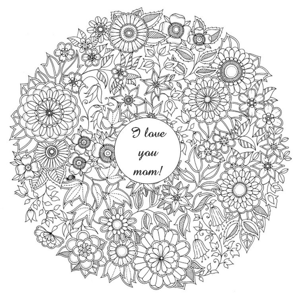 Free Mother's Day Coloring Pages for Adults to Print Out - 21003