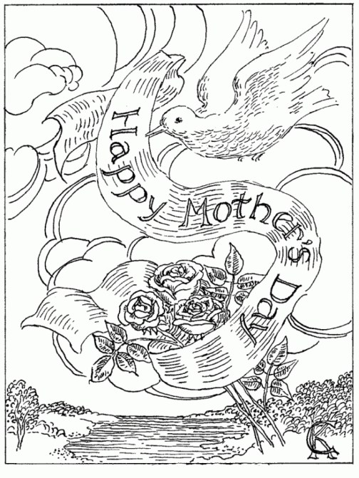 Free Mother's Day Coloring Pages for Adults to Print Out - 46031