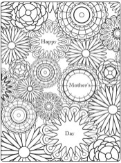 Free Mother's Day Coloring Pages for Adults to Print Out - 56702