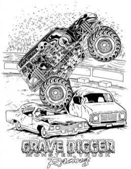 Grave Digger Monster Truck Coloring Pages