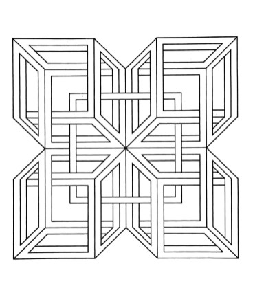 Hard Geometric Coloring Pages to Print Out - 25781