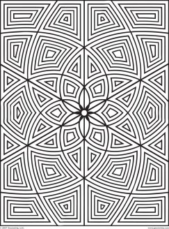 Hard Geometric Coloring Pages to Print Out - 76391