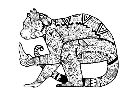 Monkey Coloring Pages for Adults - 39041