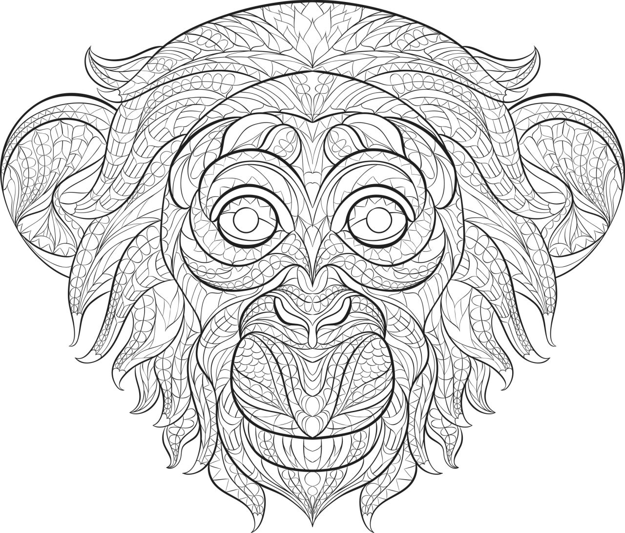 Get This Monkey Coloring Pages For Adults 60731
