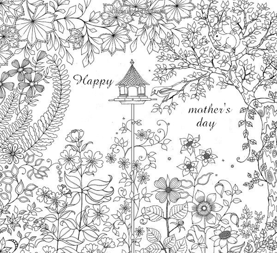 Get This Mothers Day Coloring Pages For Adults Printable