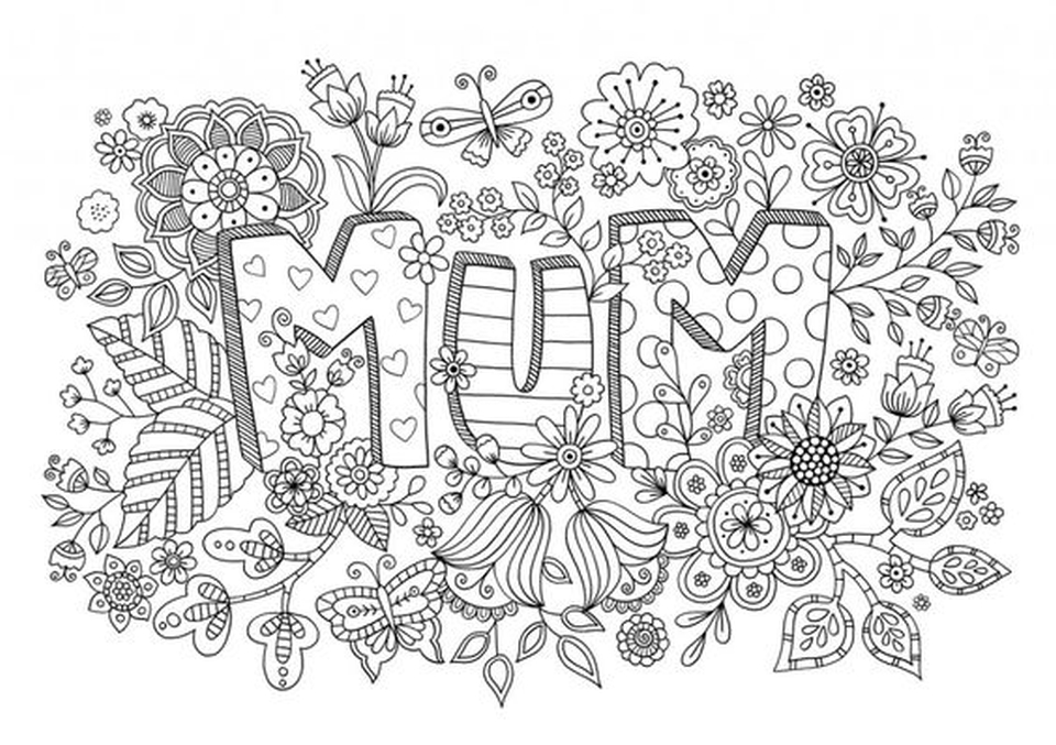 20 Free Printable Mothers Day Coloring Pages For Adults