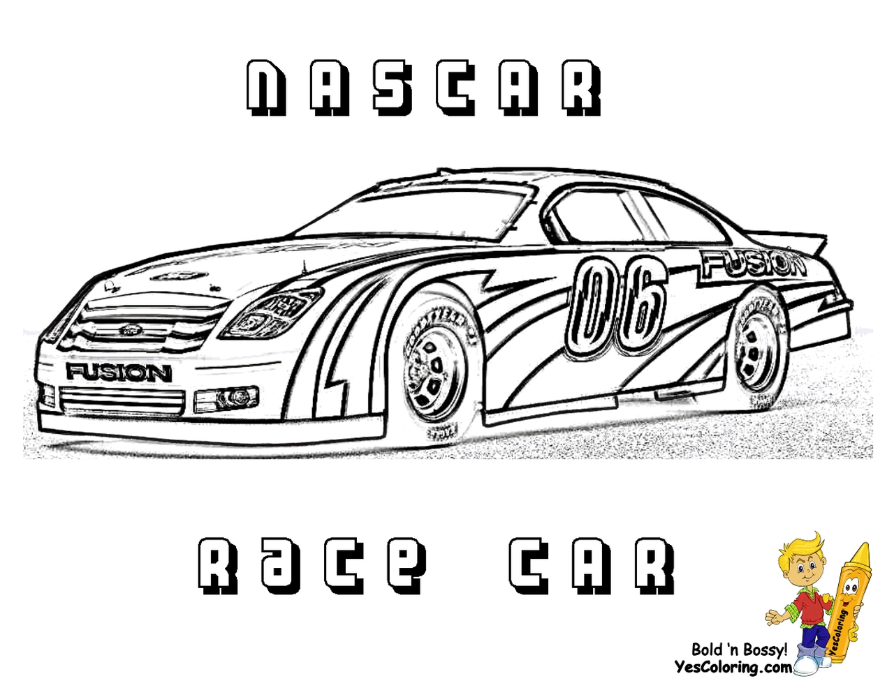 Nascar racing car coloring pages for boys - 36729
