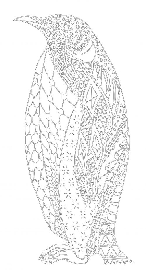 Penguin Coloring Pages for Adults to Print Out - 77316