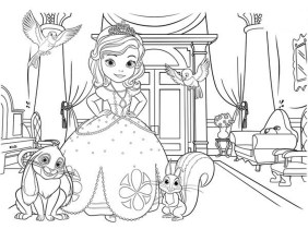 Princess Sofia the First Coloring Pages to Print Out for Girls - 92193