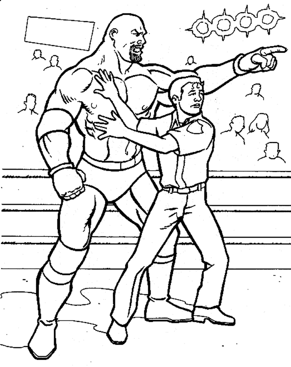 Printable wwe coloring pages goldberg - 41947