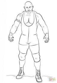 Printable wwe coloring pages ryback - 43961